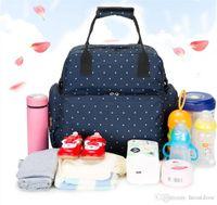 ingrosso polka dot bag viaggio-20pcs Fashion Casual mummia di maternità del pannolino del pannolino del sacchetto dello zaino di grande capienza Infant Pois mamma bambino sacchetto esterno viaggio borsa pack