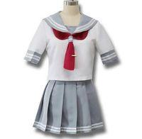 uniforme escolar japonês cosplay trajes venda por atacado-Anime japonês amor ao vivo sol cosplay Takami Chika meninas Sailor Uniformes amor ao vivo Aqours uniformes escolares