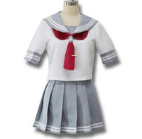 cosplay uniforme japonés al por mayor-Anime japonés Love Live Sunshine Traje de cosplay Takami Chika Girls Uniformes de marinero Love Live Aqours Uniformes escolares