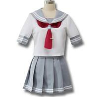 liebe uniformen großhandel-Japanische Anime Love Live Sonnenschein Cosplay Kostüm Takami Chika Mädchen Sailor Uniformen Love Live Aqours Schuluniformen