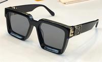 Wholesale logo for sale - Group buy New men brand designer sunglasses Millionaire square frame vintage shiny gold summer UV400 lens style laser logo top quality