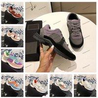 deri ayakkabılar kadar erkekler dantel toptan satış-Bayan Erkek Tasarımcı Ayakkabı Moda Konfor Dantel Kadar Rahat Ayakkabılar Lüks Paris Platformu Deri Yürüyüş Tenis Ayakkabı Sneaker