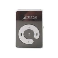 kostenlose video-musik mp4 großhandel-MP3-Musik-Player tragbar mit Clip-Unterstützung TF / SD-Karte Stereokopfhörer