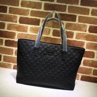 ingrosso in rilievo in pelle-Top Quality Design lettera di goffratura borsa della donna Shopping Tote Bag Genuine Leather Handbag 211137