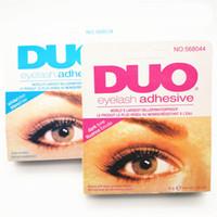 Wholesale eyes lashes glue resale online - DUO Eyelash Adhesive g oz Eye Lash Glue Makeup Adhesive Waterproof False Eyelashes Adhesives Glue with packing Practical Eyelash Glue