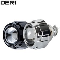 Wholesale hid bulb adapter h7 resale online - 2 inch Mini Projector Lens H1 Led Bulb HID Bi Xenon Headlight Light with Black Silver Shell H4 H7 Headlamp Adapter Car Styling