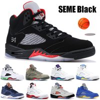 Wholesale fire wing for sale - Group buy SEME Black White High Quality s V Men Basketball Shoes Olympic Gold Metallic Silver Camo Oreo Fire Red Wings stylist Sneakers