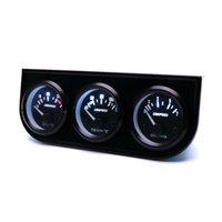 medidor de temperatura led venda por atacado-2 '' 52mm LED Car 3 Calibre Kit Medidor de Temperatura da Água + Pressão de Óleo + Volt Medidor de Tensão