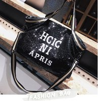 Wholesale f purse for sale - Group buy Designer handbag trend handbag fashion brand female designer fashion simple sequin bag purse luxury large capacity handbag clutch bag f