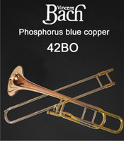 Wholesale copper trombones resale online - United States BACH BO Trombone drop B turn F Phosphorus Copper Professional trombone instruments