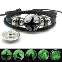 zodiac sign bracelets großhandel-Widder Gemini Leo Libra Skorpion 12 Konstellation Leuchtende Armband Leder Armband Sternzeichen Schmuck für Männer Frauen