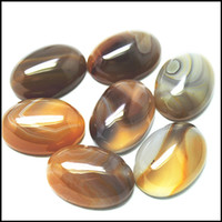 Wholesale gem stone accessories for sale - Group buy 10pcs natural gem stone beads cabochons oval shape x25mm onyx cabs no holes charms beads accessories fittings beads
