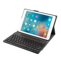 folio de couro ipad venda por atacado-Caso Teclado Para Novo 2018/2017 Ipad, iPad Pro 9,7, Ipad Air 1 E 2 - Teclado Destacável - Fino Capa De Couro Fino 7 Cor