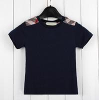 erkek çocuk yazlık giysiler toptan satış-Perakende erkek bebek Kısa Kollu T Gömlek Saf Pamuk çocuk Konfeksiyon Yaz Yeni Desen Marka çocuklar tee boy t shirt Tops