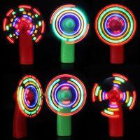 çocuklar için oyuncak fanlar toptan satış-2019 Yaz led mini fan çocuk renkli küçük fan çocuklar LED Işıklı Oyuncaklar El flaş Fan