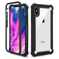 iphone açık tampon toptan satış-360 Tam Darbeye Tampon Durumda temizle arka Kapak iphone 6 7 8 Artı XR XS MAX S10 S8 S9 ARTı