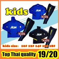 детские спортивные костюмы оптовых-2019-2020 ребенка футбол спортивный костюм набор 19 20 детей фуфайки Таиланд комплект качества KIDS костюм