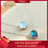 Wholesale aurora for sale – best Thaya cm Aurora Pendant Necklace Halo Crystal Gemstone s925 Silver Scale Light Necklace for Women Elegant Jewelry Gift