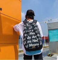 Wholesale large shoulder bags for men resale online - Fashion Brand Designer Backpack Double Shoulder Bag Outdoor Traveling Letter Printed Schoolbags For Women Students Backpacks XL supreme