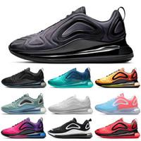 zapato de golf con descuento al por mayor-Nike Air Max 720 Shoes Zapatillas con descuento para hombres Mujeres Negro Puesta de sol Gris carbono Zapatillas de deporte para hombre Zapatillas de deporte 36-45