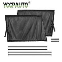 Wholesale mesh window covers resale online - YCCPAUTO Car Truck Curtains Auto Side Front Window Sunshade Folding Mesh fabric Windshield SunShield Cover Car Styling