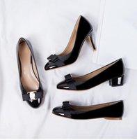 preços mais baixos venda por atacado-Baixo preço mais novo Mulheres Flats Marca Ballet couro genuíno sapatos de couro Mulher Bow Tie Designer Flats Ladies Zapatos Mujer Sapato Femi