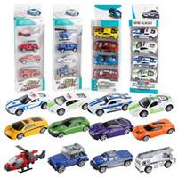 çocuklar için diecast otomobilleri toptan satış-1: 64 Çocuk Alaşım araba modeli oyuncak Çok tarzı karikatür çocuklar Diecast Model Arabalar oyuncaklar 4 adet / takım C6234