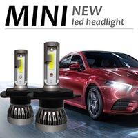 ingrosso luce di mini dimensioni ha condotto-2pcs mini luci LED per auto, H4 H1 H7 H8 H9 H11 9005 9006 9012 Fari a LED 12V 24V Adatto per la maggior parte dei modelli.