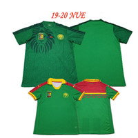 Wholesale new season football shirts resale online - 2019 new season and retro Cameroon African Cup soccer jerseys home Anguissa CHOUPO MOTTING kunde Vincent Aboubakar football shirt