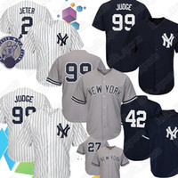 ingrosso babe xxl-99 Aaron Judge New York 2 Maglia di Derek Jerseys Jeter Yankees 27 3 Maglia di baseball Babe Ruth 7 Mickey Mantle