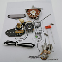 renk değiştirme plakaları toptan satış-TP Gitar Kondansatör Potansiyometre CTS 250K Bakır Kablolama Kiti mile için-Stra CDE 225P 0,033 100V Portakal Gömme + Kaynak hat çizimi
