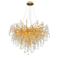 Wholesale crystals stores for sale - Group buy Postmodern living room dining room crystal glass lighting creative personality front desk clothing store decorative chandelier
