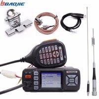 vhf uhf radio móvil al por mayor-La estación de radio Baojie BJ-318 mini vehículo del coche del montaje 256CH 10 kilometros 25W de doble banda VHF / UHF de actualización móvil transceptor de radio de BJ-218