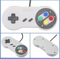 usb snes controller para pc al por mayor-NUEVO USB Classic Controladores Controlador de PC Gamepad Joystick de repuesto para Super Nintendo NES SNES SF Tablet PC LaWindows MAC