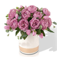 Wholesale roses buds resale online - 5 Big Heads Bouquet Peonies Artificial Flowers Silk Peonies Bouquet Bud Flowers Wedding Home Decoration Fake Peony Rose Flower