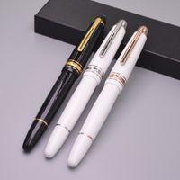 işletme numaraları toptan satış-Yeni varış Msk-149 Siyah / Beyaz Rollerball Kalem Kırtasiye Iş Ofis Malzemeleri Ve Monte Markalar Seri Numarası Ile Yazmak Roller Kalemler