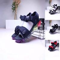 черный для резины оптовых-2019 nike air max sandals модельер воздушные резиновые кроссовки лето открытый пляж макс скольжения сандалии для мужчин и женщин 6 цветов черный белый радуга розовый