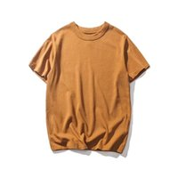 ingrosso maglietta rosa marrone-2019 T-shirt estiva Cool Traspirante Rinfrescante Tutti i colori sono validi Qui Verde Bianco Blu scuro Rosa Marrone Blu S-4XL