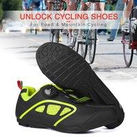 calçados cobrem o céu venda por atacado-Sapatilhas de ciclismo MTB Sapatos Homens Desbloquear Sapatos de Ciclismo Bicicleta de Estrada Fivela de Rotação de Bicicleta com Sola de Borracha Antiderrapante