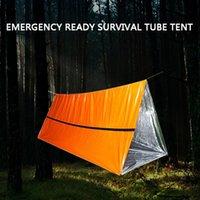 tentes tubulaires achat en gros de-Abri de survie de tente de tube de couchage de haute qualité en plein air de mode 2019 comme abri de tente de survie 30 Drop shipping