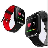 mujer reloj gps tracker al por mayor-El más reciente de la presión de fitness pulsera Q58S 1,3 pulgadas 3D UI monitor de ritmo cardíaco Medición Control de actividad Bluetooth inteligente reloj de los hombres / de las mujeres a través de DHL
