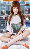 Wholesale inflatable doll solid full silicone for sale - Group buy New Sex Dolls Full Silicone Big Breast solid Head Oral sex Anal Vagina Adult toys Lifelike Inflatable Doll for Men Masturbation