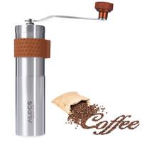 kahve değirmeni paslanmaz çelik toptan satış-Paslanmaz Çelik Kahve Değirmeni Manuel El Kahve Makinesi Burr Mısır Değirmeni Değirmenleri Taşınabilir Değirmen Makinesi Kahve Araçları Seyahat