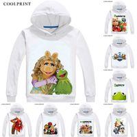 benutzerdefinierte schwein kostüm großhandel-Muppets Herren Hoodies Miss Pig Statler und Waldorf Fashion Anime Sweatshirt Streetwear Custom Hoodie Kostüm mit Kapuze