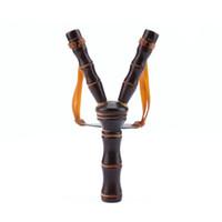 ingrosso giocattolo di legno-Potente Slingshot Rubber Band Catapult Slingshot Toys Slingshot realizzato in legno strumento di gioco Accessori Sport all'aria aperta