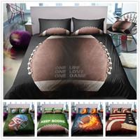 conjuntos de cama queen para meninos venda por atacado-Mordern esporte estilo conjunto de cama queen size king size king size com futebol de basquete para meninos cama capa de casa têxtil colchas