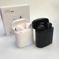 auricular de tono lg blanco al por mayor-I7S TWS Auriculares inalámbricos Bluetooth para audífonos Gemelos Auriculares con cargador Dock Box para Android Android Samsung Sony Smartphones
