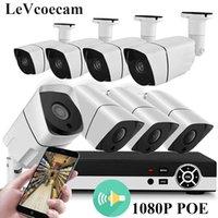 8ch ip kamera nvr großhandel-Full HD 1080P PoE Video Security-Kamera-System, 8-Kanal-1080P Surveillance NVR, 2,0 MP im Freien Innen Audio Wetter IP-Kamera