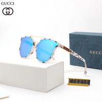 kadın için kaliteli gözlük çerçeveleri toptan satış-Yüksek kaliteli plaj güneş kadınlar Moda tasarımcısı klasik gözlük bir desen ile metalik gözlük bir yuvarlak çerçeve dbt8216 ...