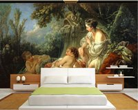 Wholesale oil wood art for sale - Group buy 3d room wallpaper custom photo mural HD classical beauty nude oil painting decorative background art canvas pictures wallpaper for walls d